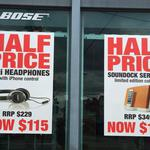 Half RRP Bose OE2i $115 and Soundock Series III $175 in Store at Bose Camberwell VIC