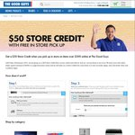 The Good Guys $50 Credit for $300+ Online Order and Store Pick up
