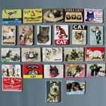 24 Cat Themed Fridge Magnets  US $6.86 Delivered   @ AliExpress