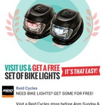 Free Bicycle Lights @ Reid, No Min Spend, No Purchase Needed - Australia Wide