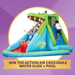 Win an Action Air Crocodile Water Slide & Pool from Target