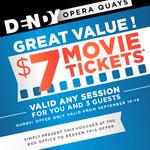 $7 Movie Tickets Dendy Opera Quays (SYD) until 16th September