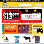 $13 OFF Ends Midnight | Minimum Spend $64.99 | My Pet Warehouse