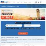 Vietnam Airlines Europe Deals, Melb/Syd-London Return, From $955 @Bestjet