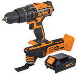 Masters eBay - Triton XT 18V Hammer Drill & Multi Tool Kit $67.15 C&C or $77.10 Delivered