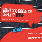 $10 Credit with goCatch (Ride Sharing) - New and Existing Customers