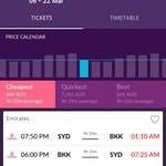 Sydney/Melbourne - Bangkok from $644 Return, Flying Emirates via Momondo