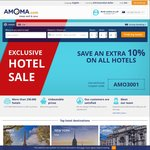 Extra 10% off All Hotels @ Amoma.com