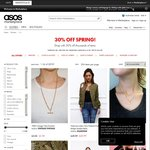 30% off Mens and Womens Spring Sale @ ASOS