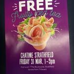 Free Regular Fruity Iced Tea at Chatime (Strathfield, NSW)