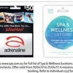 40% off Adrenaline or Spa and Wellness Gift Cards @ Coles (Starts 19/4)