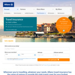 Allianz Comprehensive Travel Insurance 15% off