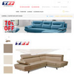 Campbell 2 Seater+Chaise Lounge in PU Leather for $999 (Delivery Extra) @ The Furniture People [Montmorency VIC]
