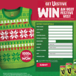 Instant Win 1 of 2,001 V Festive Vests Valued at $50 Each [Purchase Specially-Marked V Energy Drink to Get Unique Code]
