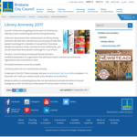 Brisbane City Council Library Amnesty 2017 - Fees Waived in Exchange for a Can of Food