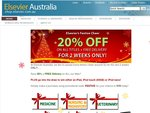 Elsevier Textbooks $20% Discount and FREE Delivery