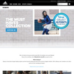 Flybuys - Collect 20 Points Per $1 When Buying adidas + Free Shipping