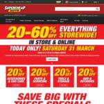 20-60% off Storewide @ Supercheap Auto