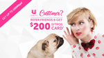 Uniti Wireless $200 eGift Card for Existing and Referred Customer Each until 30/4/18