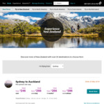 MEL/BNE/SYD to CHC/ZQN/WLG/AKL from $210 One Way on Air New Zealand