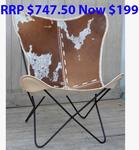 Cowhide Butterfly Chairs Clearance $199 (Was $249) @ Decorstore