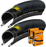 Wiggle - Continental 2 Grand Prix 4000S II 25c Tyres and 2 Tubes for AU $59.99 (List Price AU $227.99, Save 73%)