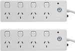 Arlec White 4 Outlet Surge Protected Powerboard - 2 Pack - $19.50 | Xiaomi Wiha - $25 | Delivered via eBay Plus @ Exit Shop AU