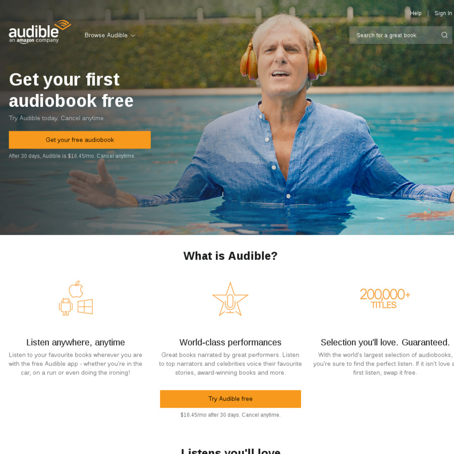 Audible Australia - for Existing Members - Three Months Half