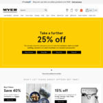 Myer Family and Friends Offer: 50% off Select Womens Clothing, 40% off Select Mens Clothing