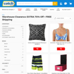 70% off Selected Items | Free Shipping @ Catch e.g. Havaianas $3.60 Delivered + Free 2GB Mobile w/ Purchase