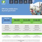 Pennytel 3 Months Half Price. Unlimited Standard Calls/SMS/MMS. $5.50 p/m (1GB), $8 p/m (2GB), $13 p/m (5GB) & $18 p/m (10GB)
