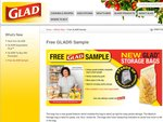 Free Sample Glad 'Gusset' (Stand Upright) Bag [EXPIRED]