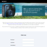 Win a Sony XB501G Extra Bass Google Assistant Built-in Bluetooth Speaker Worth $399 from Sony