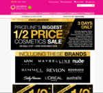 1/2 Price Cosmetics Sale (Excludes Napoleon Perdis and Essence) @ Priceline