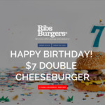 Double Cheese Burger $7 @ Ribs & Burgers