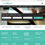 40% off All Front Pair of Uniwiper Wipers + $10 Shipping @ Uniwiper