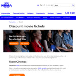 [NSW/ACT] $8.50 Event Cinemas Evouchers for NRMA Members (Minimum Purchase 2 Vouchers)