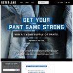 Win a Year's Supply of Pants Worth $1,200 from Neverland Store