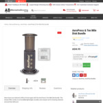 Aerobie Aeropress Coffee Maker + Ten Mile Disk - $44.95 + Shipping ($9.95 for Standard Shipping) @ Alternative Brewing