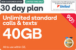 40GB Prepaid | 30 Days | $3.90 @ Kogan Mobile (New Customers)