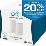 NetGear RBK40 AC2200 Orbi Wireless Gigabit Router Whole Home Wi-Fi System Mesh Kit 2 Pack $276 Shipped @ Futu Online eBay