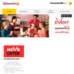 Event, Village, BCC Movie eVouchers $12.50 [CBA Customers] @ ExperienceThis