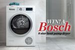 Win 1 of 4 Bosch 8 Star Heat Pump Dryers Worth $2,699 from Pacific Magazines