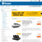Further 20% off Refurbished Security Camera Systems, Alarms and Drones @ Swann