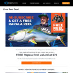 Free Fishing Reel incl. Postage w/ Purchase of $79 Annual Fishflicks TV Subscription