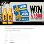 Win 1 of 2 $500 Mitre 10 Gift Cards from Cellarbrations/The Bottle-O