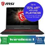 MSI GL65 15.6 120Hz i5-9300H GTX 1650 8GB 512GB Gaming Laptop $1104.15 + $15 Delivery (Free with Plus) @ Wireless 1 eBay