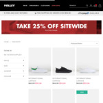 25% off Sitewide @ Volley