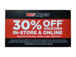 30% off Full Priced Products (Exclusions Apply) @ Repco