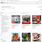 12% Additional Discount on Power Tools / Gardening Tools (+ 10% Coupon Discount) @ Edisons eBay